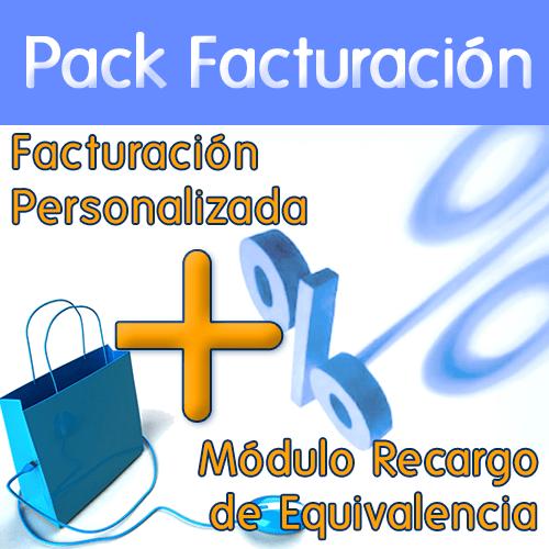pack módulo factura y recargo de equivalencia